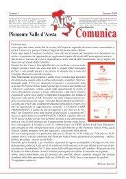 AIC COMUNICA - gennaio 2009 - AICa - Piemonte Valle d'Aosta