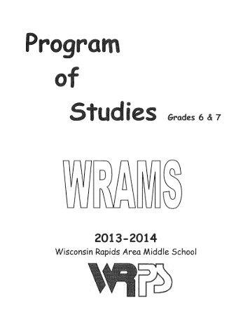 WRAMS Course Catalog - Wisconsin Rapids Public Schools