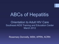 What is hepatitis? - Southeast AIDS Training and Education Center
