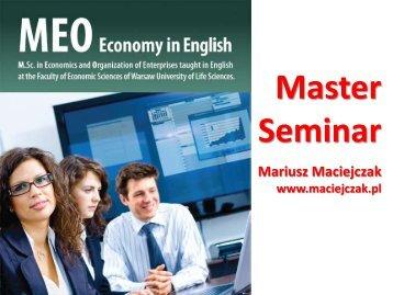 The thesis - Mariusz Maciejczak