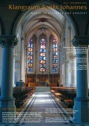 Klangraum Sankt Johannes - Sankt Johannes Evangelist Tübingen