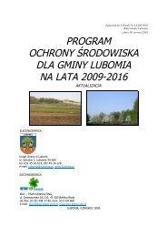 program ochrony środowiska dla gminy lubomia na lata 2009-2016