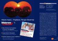 Malaria tropica – Prophylaxe, Therapie (Stand-by) - GlaxoSmithKline