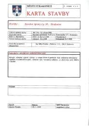 Karta stavby: Stavební úpravy č.p. 58, Strakonice