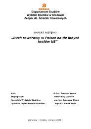 Ruch rowerowy w Polsce na tle innych krajów UE