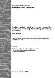 Analiza wielokryterialna i ocena ekspercka wariantów ... - SISKOM