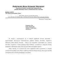 Opinia Państwowej Rady Ochrony Przyrody w sprawach ... - SISKOM