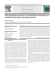 From population dynamics to ecoinformatics - Theoretical Biology ...