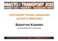 efektywność systemu zarządzania ruchem w warszawie - SISKOM