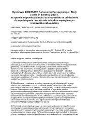 Dyrektywa 2004/35/WE Parlamentu Europejskiego i Rady ... - SISKOM