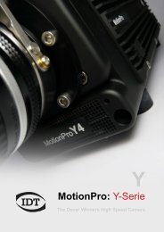 MotionPro Y-Serie, Datenblatt August 2012 - Imaging Solutions GmbH