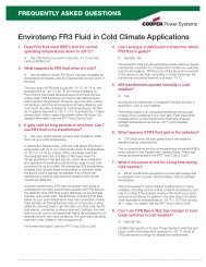 Cold Climate FAQs on FR3 — Nov.2008 - SPX Transformer Solutions