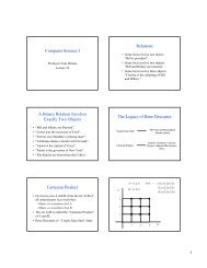 Computer Science I Relations A Binary Relation Involves Exactly ...