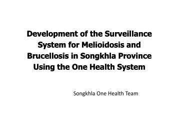 Development of the Surveillance System for System for Melioidosis ...