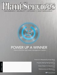 POWER UP A WINNER - Plant Services
