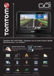 TomTom GO LIVE 1000 Toujours sur la route la plus rapide