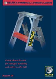 COMMERCIAL & DOMESTIC LADDERS - Ullrich Aluminium