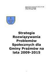 Strategia Rozwiązywania Problemów Społecznych na lata 2009-2015