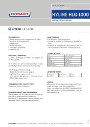 HYLINE HLG-1000 - HOBART GmbH