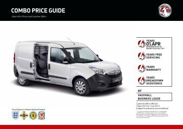 COmBO PRICE GUIDE - Vauxhall