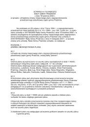 UCHWAŁA nr XLII/494/2002 RADY GMINY PRAśMÓW z dnia 18 ...
