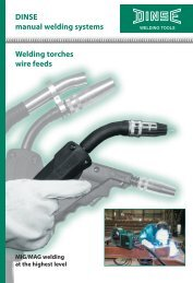 DINSE manual welding systems Welding torches ... - Dinse-gmbh.com