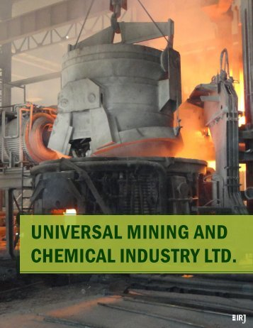 UNIvERsAl MINING ANd chEMIcAl INdUstRy ltd. - The International ...