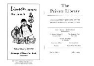 Vol 4 Number 7 - The Private Libraries Association
