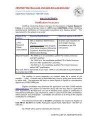 Complete Notification (PDF - CCMB