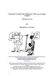 """Técnica del """"Cambio Más Significante"""" (MSC, por sus siglas en ..."""