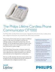 The Philips Lifeline Cordless Phone Communicator DT1000