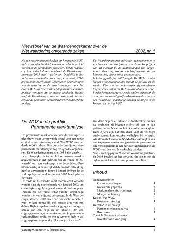 WOZ-journaal 2002.1 - Waarderingskamer
