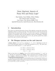 Some Algebraic Aspects of Fuzzy Sets and Fuzzy ... - ResearchGate