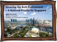 Greening the Built Environment – A National Priority for Singapore