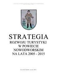 Strategia Rozwoju Turystyki w Powiecie Nowodworskim na lata ...