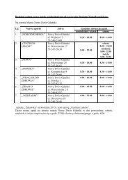 Harmonogram dyżurów aptek w okresie od 1 marca 2013 r. do 28 ...