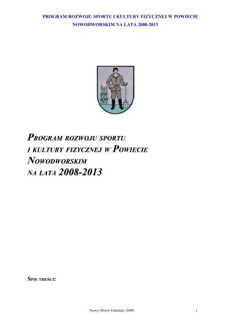 program rozwoju sportu i kultury fizycznej w powiecie ...