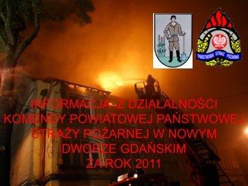 informacja komendanta powiatowego państwowej straży pożarnej w ...