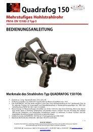 Bedienungsanleitung QF150 Hohlstrahlrohr - Leader GmbH