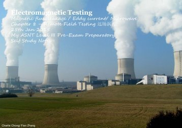 Electromagnetic Testing Magnetic flux leakage / Eddy current/ Microwave Chapter 8