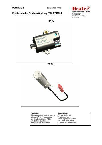 Datenblatt Elektronische Funkenzündung IT 110 Status