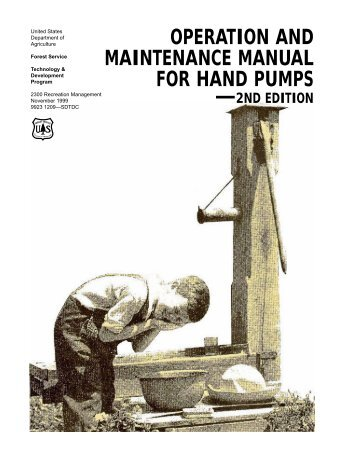 OPERATION AND MAINTENANCE MANUAL FOR HAND PUMPS