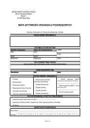 mapa aktywności organizacji pozarządowych - Nowy Sącz