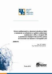 Vývoj vzdělanostní a oborové struktury žáků a studentů ve středním ...