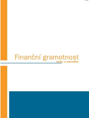Finanční gramotnost – úlohy a metodika - Národní ústav odborného ...