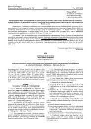 Dziennik Urzędowy Województwa Małopolskiego Nr 706 - Plany ...