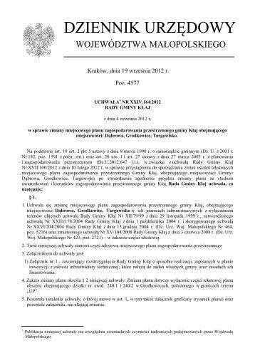Uchwała Nr XXIV.164.2012 z dnia 4 września 2012 r. - Plany ...