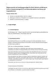 Kunnskapsgrunnlag for bruk av CT - Norsk Industri