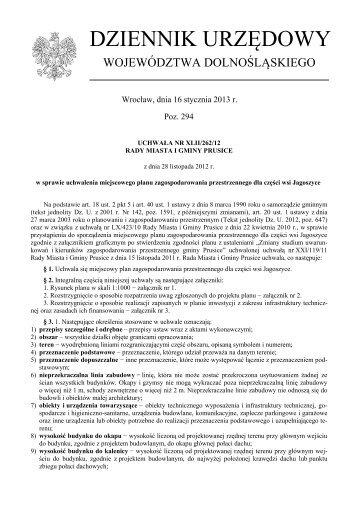 Uchwała Nr XLII/262/12 z dnia 28 listopada 2012 r. - Plany ...