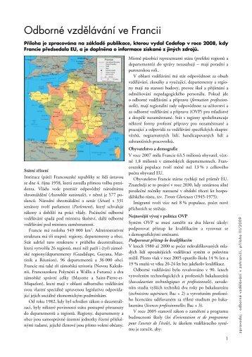 Zpravodaj - příloha III/2009 - Národní ústav odborného vzdělávání